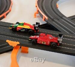61.25' AFX Tomy Giant Raceway Race Track Complete Indy Slot Car Set, Ready To Run