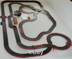 AFX Tomy 45' Mega Giant Raceway Track Slot Car Set 4' x 7 1/2' 100% Ready To RUN