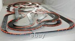 AFX Tomy 75.5' Mega Giant Raceway Track Slot Car Set, 4' x 8' 100% Ready To RUN