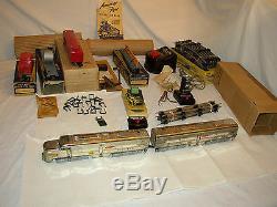 American Flyer Train Set 5007 Santa Fe Chrome Diesel Freight Ready To Run #ss-35