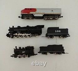 Atlas N Gauge Ready to Run Train Set with 2 Bonus Steam Engines 1967 Vintage
