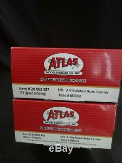 Atlas Ready to Run HO Articulated Auto Carrier TTX Set Of 2
