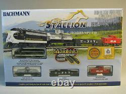 BACHMANN 24025 N SCALE NS F7 The Stallion COMPLETE READY TO RUN TRAIN SET