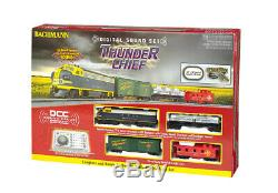 Bachmann 826 HO Scale Ready to Run Train Set Thunder Chief Santa Fe (DCC/Sound)