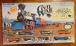 Bachmann Civil War Union Train Set Complete and Ready to Run HO Scale Train Set