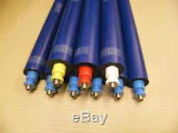 Gto46 Inking Roller Set 6 Blue 1 Red White Yellow Ready To Run