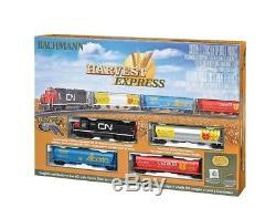 HO Harvest Express Model Train Set Ready To Run 47 x 38 oval