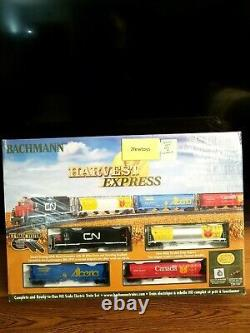 HO Scale Harvest Express Ready To Run Electric Train Set 00735 Bachmann New