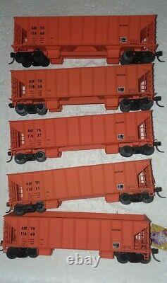 HO Train Amtrak Maintenance Of Way Set Ready To Run 5 cars