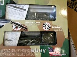 K Line US ARMY Train Set COMPLETE READY TO RUN with SUPER SNAP TRACK & Transformer