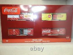 K-line O Scale Set Of Four K-515002a Coca-cola Boxcars New Ready To Run
