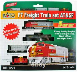 Kato N Scale M1 Basic Oval Track Set with ATSF WarBonnet Train Set Ready to Run