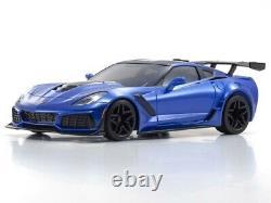 Kyosho 32334BL Mini Z Car Corvette ZR1 Elkhart Lake Blue Metallic RTR Ready Set