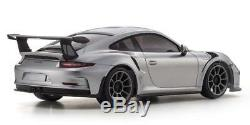 Kyosho Mini-Z Porsche 911 GT3 RS Silver RWD RTR Ready Set 32321S EMS withTracking