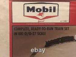 LIONEL- 11957- MOBIL OIL TRAIN SET- 0/027- NEW Ready to run factory sealed