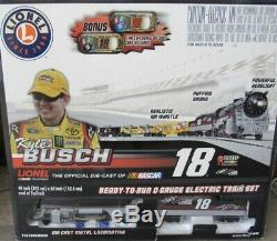 LIONEL M&Ms KYLE BUSCH #18 NASCAR O GAUGE READY TO RUN TRAIN SET NEW