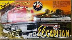 Lionel 6-30001 Ready to Run Train Set El Capitan Santa Fe, 4 Cars, 8 Tracks