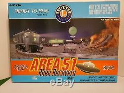 Lionel #6-31926 AREA 51 ALIEN RECOVERY READY TO RUN TRAIN SET / C-10 MINT! / HTF