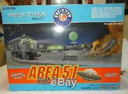 Lionel Area 51 Alien Recovery Train #6-31926 Ready To Run Train Set 2002
