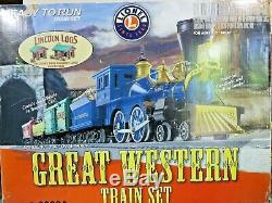 Lionel Great Western Ready To Run O Gauge Train Set Track Transformer 6-30034