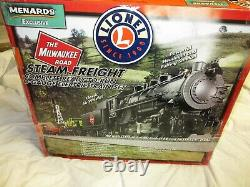 Lionel Milwaukee Road Ready To Run Steam Freight O-Gauge Electric Train Set