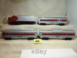 Lionel O27 6-11739 Santa Fe Diesel Locomotive Passenger Train Set Ready To Run