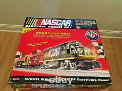 Lionel O Gauge NASCAR Ready-To-Run train set with TRAIN SOUNDS NEW IN BOX