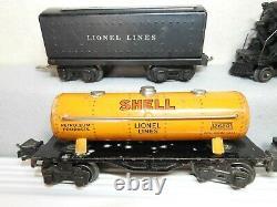 Lionel O Gauge Pre-war #1664 Steam Locomotive Freight Train Set Ready To Run