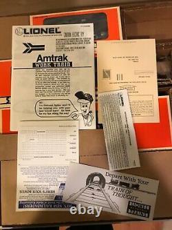 Lionel O Scale 6-11723 Amtrak Work Train Set Ready To Run Nib