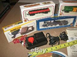 MINT Bachmann HO Electric Train Set The Old Timer 4-4-0 COMPLETE READY TO RUN
