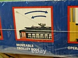 MTH NFL Football NEW YORK JETS TROLLEY Ready to Run Train Set Factory Sealed