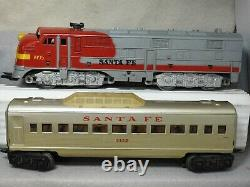 Marx O Scale 6 Piece Santa Fe Diesel Locomotive Passenger Car Set Ready To Run