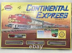 Model Power Continental Express Santa Fe N Scale Electric Train Set Ready To Run