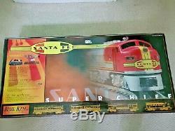 Mth 30-4021-1 Railking Ready To Run Santa Fe Super Chief Set / C-8+