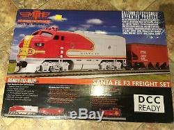 Mth 81-4001-0- Santa Fe F-3 Ready To Run Freight Train Set