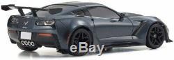 NEW Kyosho Mini-Z RWD Chevrolet Corvette ZR1 Gray Metallic Ready Set RTR 32334GM
