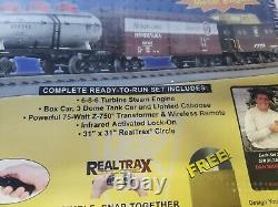 NEW RAIL KING READY TO RUN PENNSY 6-8-6 TURBINE Steam TRAIN SET Sealed
