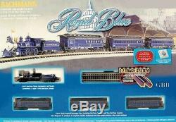 N SCALE ROYAL BLUE OLD TIME Complete Ready to Run Set BACHMANN New in Box 24018