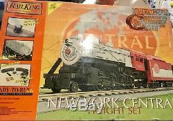 New M. T. H Electric Trains Rail King Ready to Run Freight Train Set NY Central