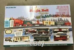 OPEN BOX Bachmann Trains Jingle Bell Express HO Scale Ready-to-Run Set