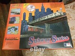 O MTH RAIL KING NY YANKEES SUBWAY SERIES SET MTA READY TO RUN WithSOUND SEALED BOX
