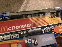 Rail King Ready-to-Run McDonald's Fast Freight Express Train Set In Box