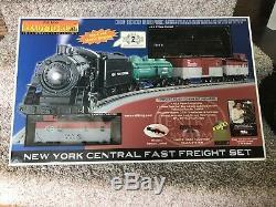 Rail King Train Set Ready to Run New York Central Fast Freight Proto Sound 2.0