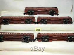 Set Of Five Lionel O Scale Pennsylvania Lighted Passenger Cars Ready To Run
