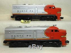 Set Of Two Lionel O Scale #218 Santa Fe Alco Aa Diesel Locomotives Ready To Run