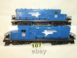 Set Of Two Lionel O Scale Missouri Pacific Gp-20 Diesel Locomotives Ready To Run