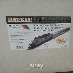 The 1997 Lionel NJ TRANSIT Ready-to-run Electric Train Set in Nig O/O-27 BNIB