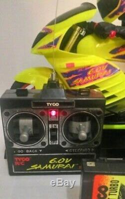Tyco RC 1990s 6.0 Samurai Bike complete set READY TO RUN