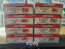 WALTHERS READY TO RUN SANTA FE SUPER CHIEF SF 8 CAR SET 932 9001 throug 932 9008
