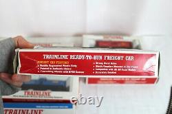 Walthers Trainline Deluxe HO Train Set Ready-To-Run Freight Car Set of 6